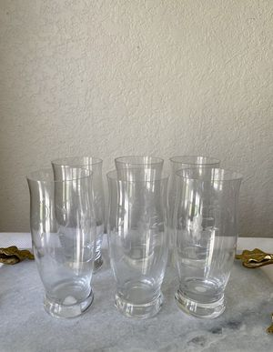 Princess House Heritage Collection Crystal 6 large glasses for Sale in Ontario, CA