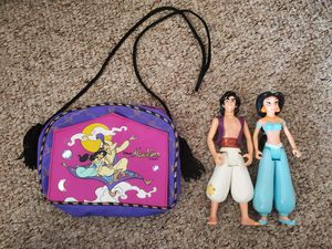 Disney Aladdin Figures and bag for Sale in West Harrison, IN