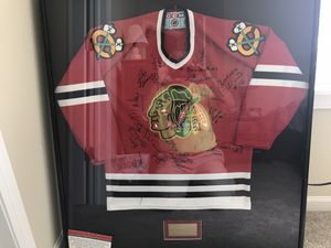 1961 signed Chicago Blackhawks Stanley Cup Championship Jersey. Asking $350, must pick up in Huntley. Cash only . for Sale in Cary, IL