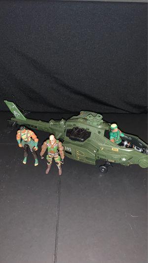 1980's Gi Joe helicopter with 3x Figures 2002 Gi Joe for Sale in Gilbert, AZ