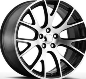 """22"""" DODGE HELLCAT Rims Package New Replica Wheels & Tires ANY FINISH • Machine Black • Gloss Black • Matte Black <<<Rims & Tires Only $1299>>> for Sale in Westminster, CA"""