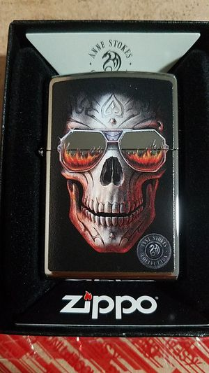 Zippo Anne stokes skull high polished chrome 29108 for Sale in Los Angeles, CA