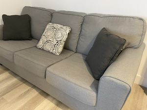 Selling Gray Sofa - FREE but w/ small stain for Sale in Foster City, CA