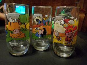 1973 Peanuts Camp Pepsi collector glasses for Sale in Granite City, IL