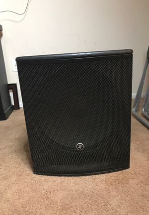 SRM 1801 18 inch powered sound subwoofer. & Mackie SA1521 Active Sound for Sale in Wheaton, MD