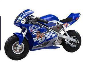 Razor blue pocket rocket bike for Sale in New York, NY
