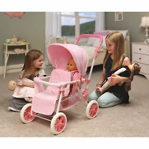 HIGH END BADGER DOLL DOUBLE STROLLER WITH STORAGE for Sale in Marietta, GA