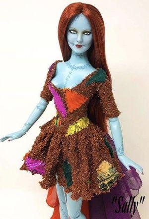 Nightmare Before Christmas Sally Custom ooak Tonner Doll for Sale in Las Vegas, NV