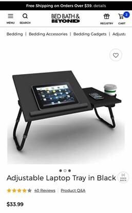 Adjustable laptop tray for Sale in McLean, VA