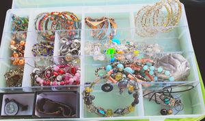 Beautiful glass blown beaded designe necklace, earrings, bracelets and a few rings for sell!!!!!!! for Sale in Mount Vernon, WA