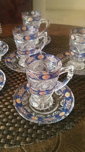 6 BEAUTIFUL SETS FOR TEA WITH NICE DESIGN AND COLORS NEW for Sale in Alexandria, VA