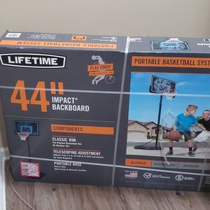 NEW Lifetime 44 In. Impact Adjustable Portable Basketball Hoop $100 OBO for Sale in Palatine, IL