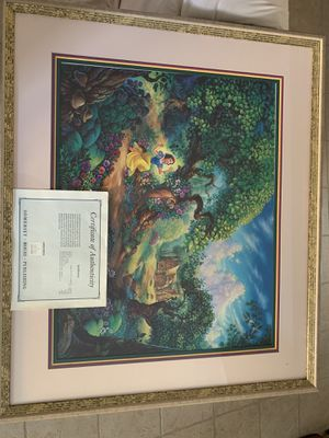"1994 Disney ""Tom Dubois"" signed Snow Whites Magical Forrest for Sale in Fresno, CA"