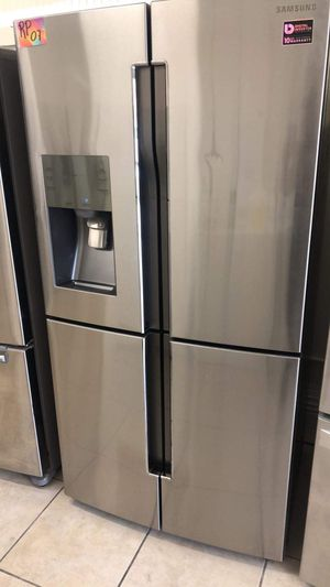 Slim refrigerator Samsung 4 door fridge for Sale in Los Angeles, CA