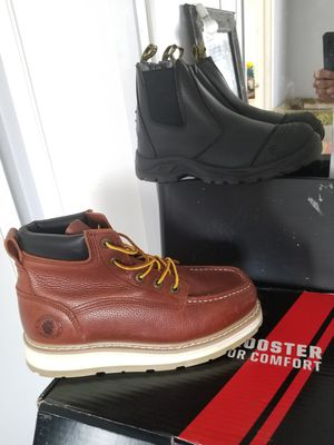 2 x mens work boots size 8.5 both for 120$ brand new for Sale in Pasadena, CA