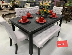 [[Dining room set.. table chairs bench}]] delivery available. Brand new for Sale in Katy, TX