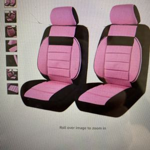 Car Pass 6pc Elegance Universal Two Front Car Seat Covers - Pink - NEW for Sale in Torrance, CA