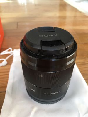 Sony E50 mm F1.8 oss E-Mount Lens- excellence condition. for Sale in New York, NY