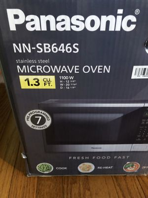Microwave - Panasonic: used however works great. No issues. for Sale in St. Charles, IL