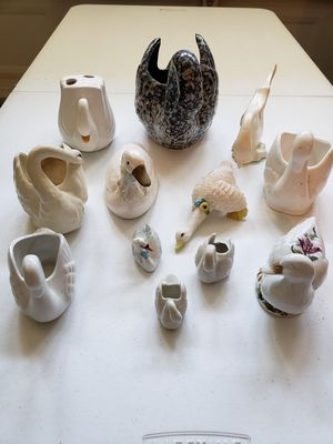 Swan and Duck figurines for Sale in Gresham, OR