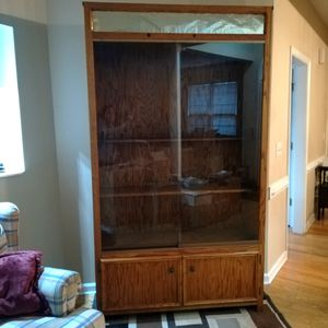 Solid Oak Display/ China Cabinet for Sale in Cumming, GA