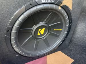 Kicker 12 Inch Subwoofer in Sealed Enclosure for Sale in Palatine, IL