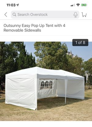 Outside easy pop up tent with 4 removable side wall for Sale in Seattle, WA