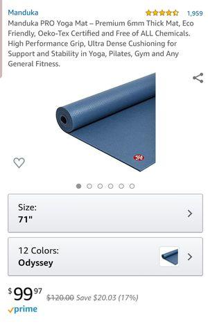 Manduka PRO Yoga Mat for Sale in Auburn, WA