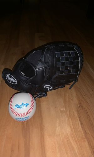 Kids baseball glove and ball for Sale in Columbia, MD