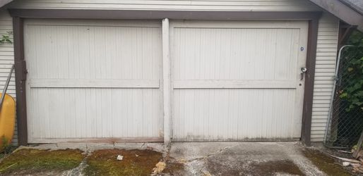 Sliding Barn doors, 80 inches high by 91 3/4 inches wide, on rail. $250.00 for Sale in Tacoma,  WA