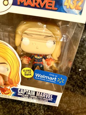 FUNKO POP CAPTAIN MARVEL - Walmart exclusive glow in the dark for Sale in Chicago, IL