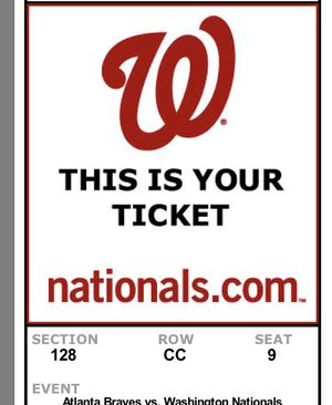 2 Washington Nationals tickets for Sale in Gray, TN