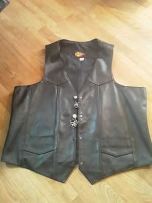 PnC Leather Motorcycle Vest for Sale in Taylor, MI