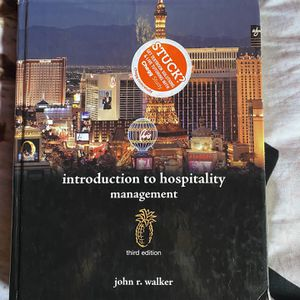 Introduction to Hospitality Management Textbook for Sale in Garden Grove, CA