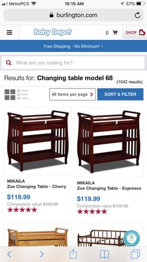 Changing table for Sale in E RNCHO DMNGZ, CA