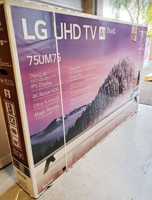 "75"" Lg smart 4K led uhd hdr tv for Sale in Fontana, CA"