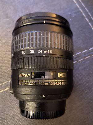 Nikon AF -S NIKKOR 18-70mm for Sale in Lutz, FL