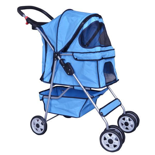 Brand New Pet Stroller Travel Folding Carrier (Dog, Cat, 3 Wheels, Safety, cage, High Quality) T49