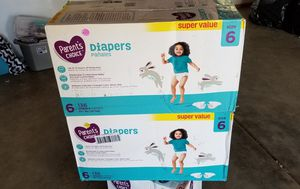 Parents choice diapers size 6 count 136 for Sale in Riverside, CA