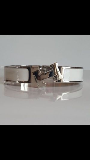 Click clac bangle bracelet unisex white enamel for Sale in Silver Spring, MD