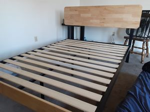 Full size slatted bed frame with headboard. for Sale in Wichita, KS