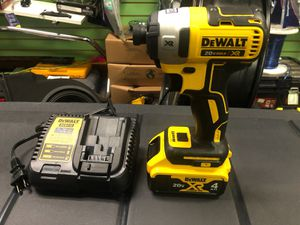 Dewalt xr brusless impact 20 v and charger for Sale in Durham, NC