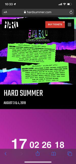 Hard Summer Ticket for Sale in South El Monte, CA