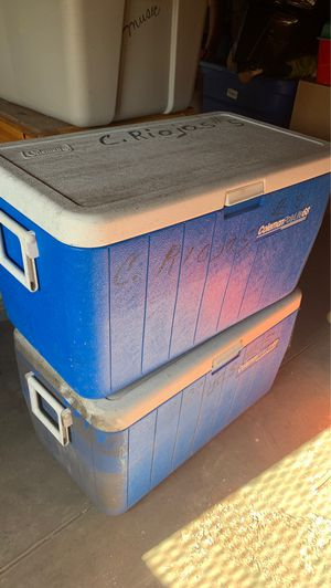 2 Coleman coolers for Sale in San Diego, CA