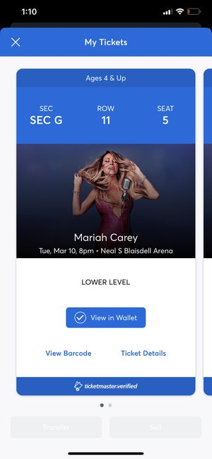 mariah carey tickets for Sale in Aiea, HI
