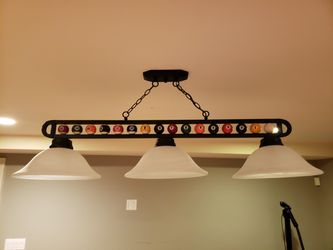 Pool table light & clock for Sale in White Plains,  NY
