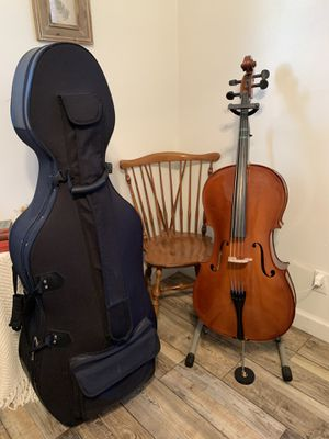 Cello 4/4 (full size), case and antique chair. for Sale in New Bern, NC