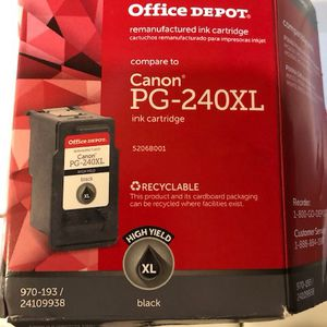 Canon PG 240 XL Printer Ink for Sale in Fontana, CA