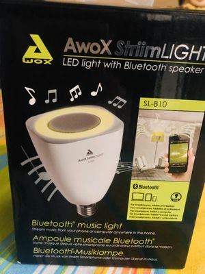 LED BLUETOOTH SPEAKER BULB LIGHT THAT STREAMS YOUR MUSIC for Sale in San Diego, CA