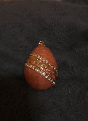Fabergè style egg - gold and peach for Sale for sale  Nutley, NJ